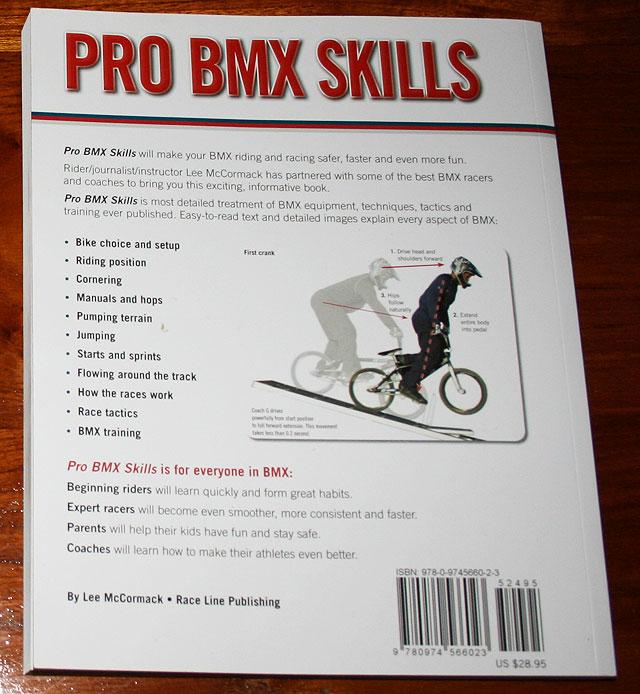 Pro BMX Skills back cover