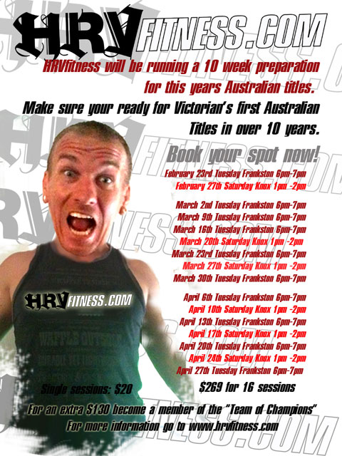 HRVFitness Australian BMX Championships preparation