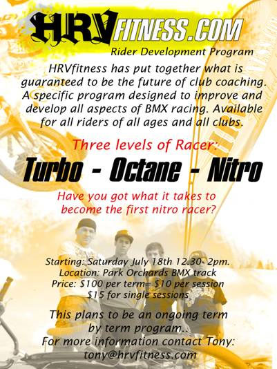HRVfitness Rider Development program