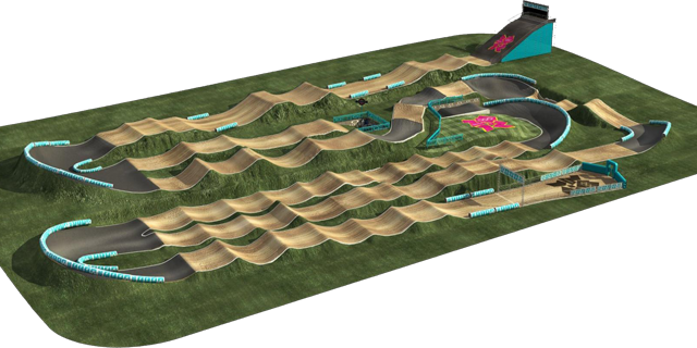 2012 London Olympics BMX Track - click for a closer look