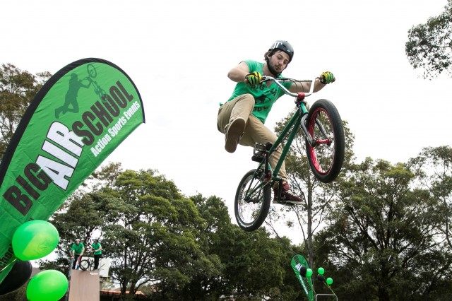 Sydney - September 7, 2014: Big Air School BMX show and workshop (photo by Jamie Williams/City of Sydney)