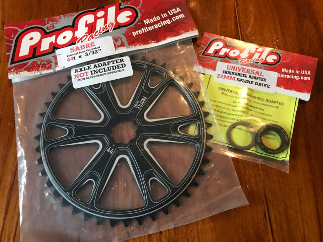 Profile Chainwheel Sprocket Adapter from 1 pc Crank to 19 mm BMX Old School Bike
